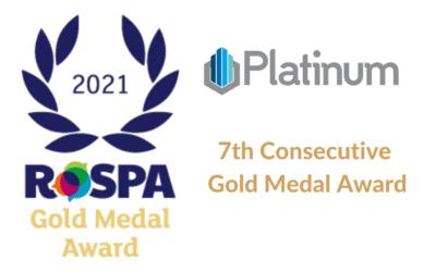 Platinum receives Seventh Consecutive RoSPA Gold